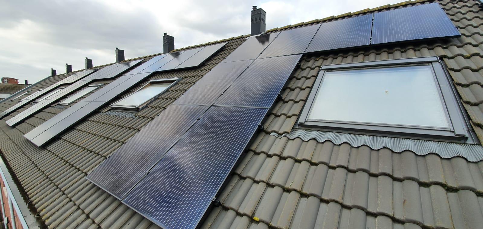 Zonnepanelen woningbouw Heemskerk